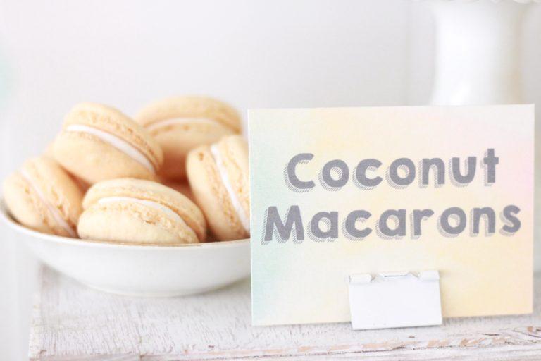 coconut macaron