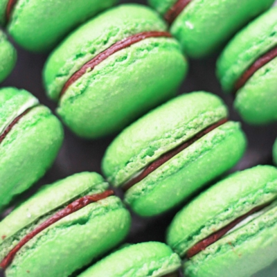 mint chocolate macarons from Pierrot Catering in New Jersey