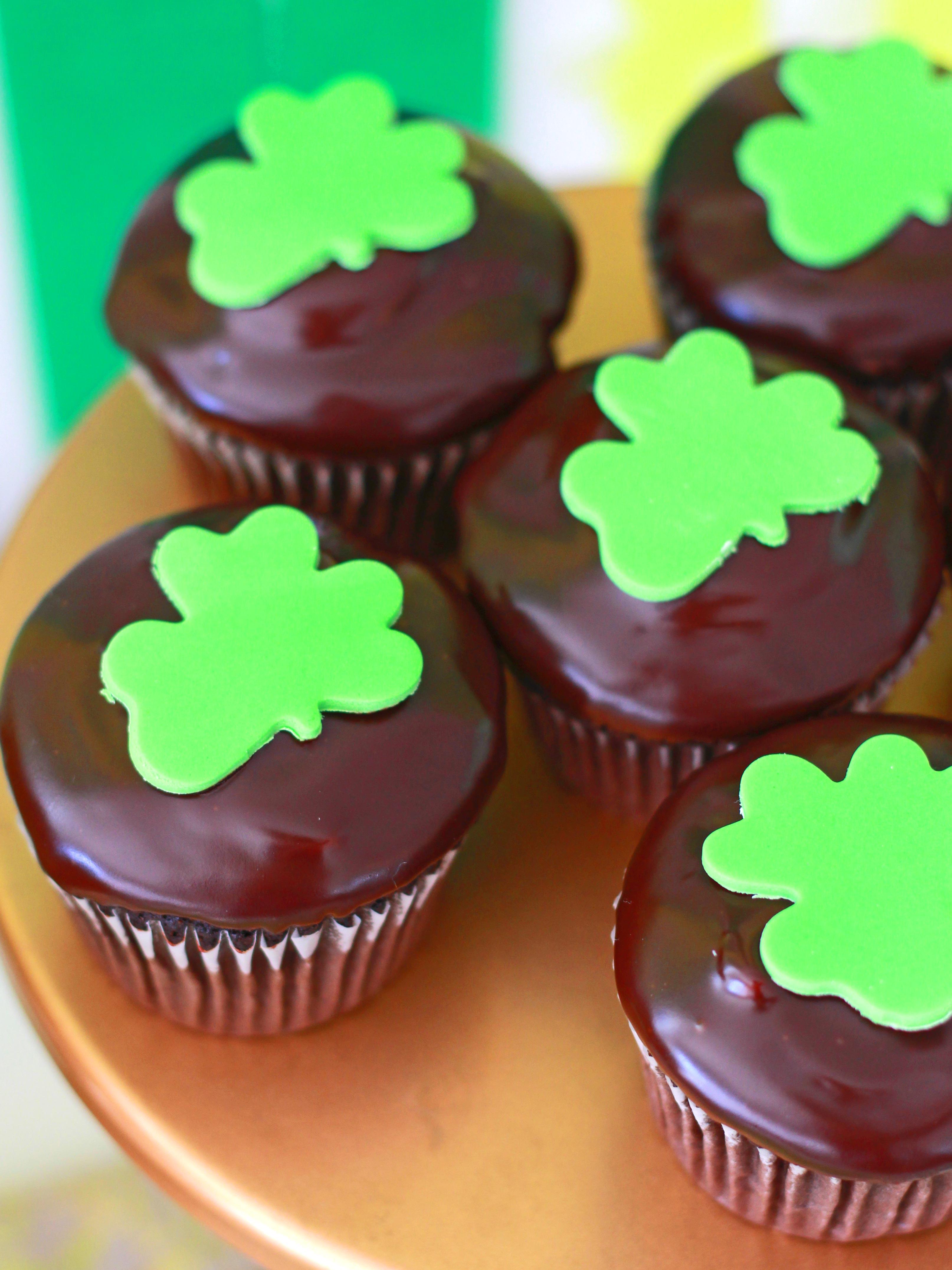 Mint Ganache Cupcakes
