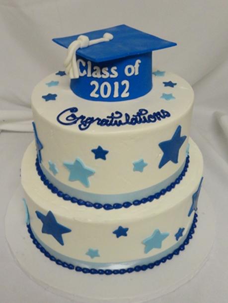 graduation cake with stars