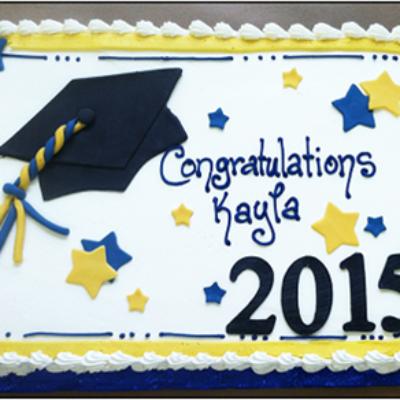 custom graduation sheet cake