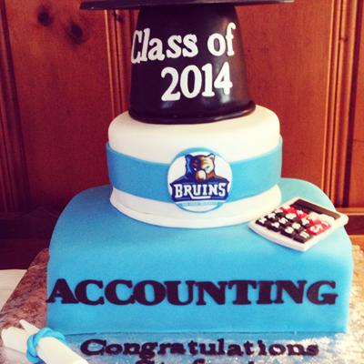 custom accounting graduation cake