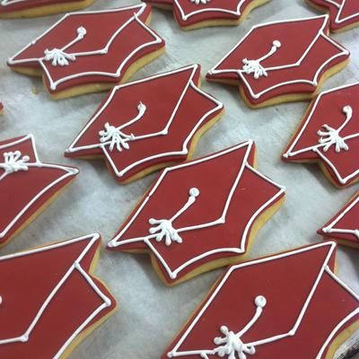 custom graduation cap cookies