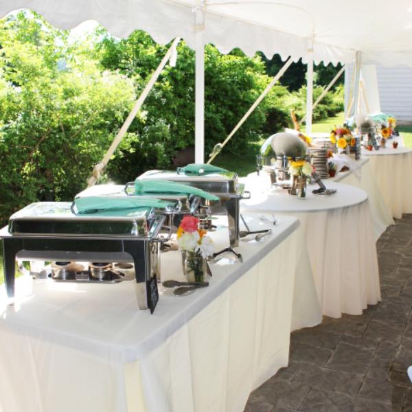 wedding catering dinner buffet outdoor