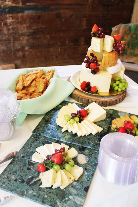 wedding catering cheese and fruit display