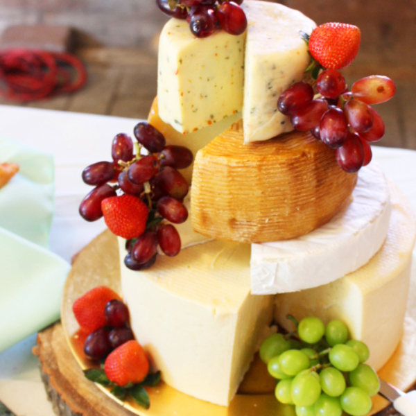 cheese wedge display for summer wedding