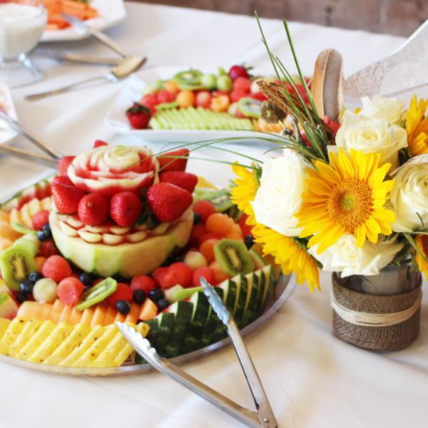 fruit platter appetizer display