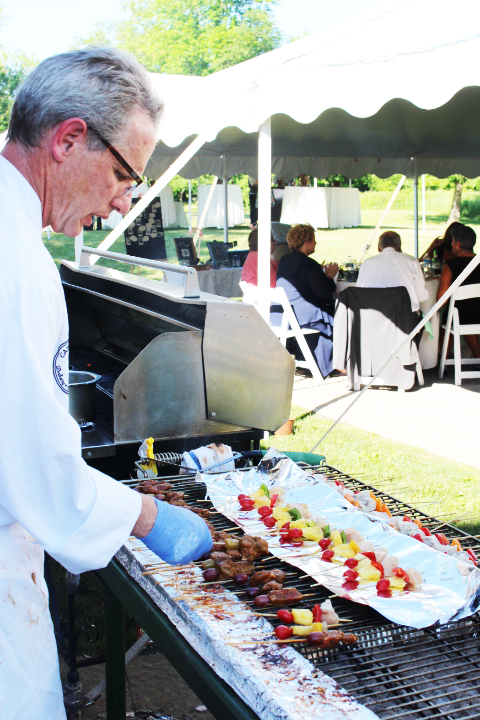 wedding catering barbecue grill