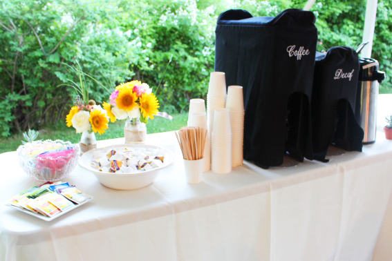 wedding catering coffee and tea service