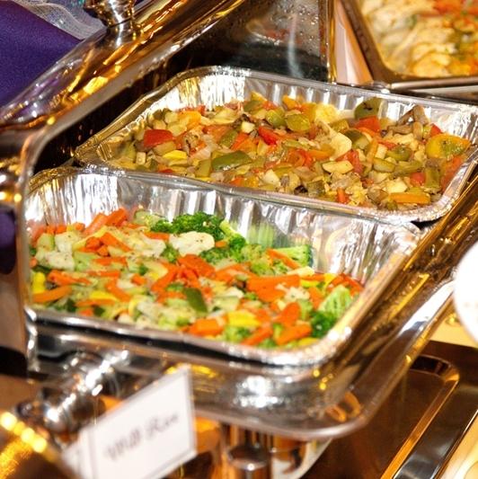 dinner buffet vegetables
