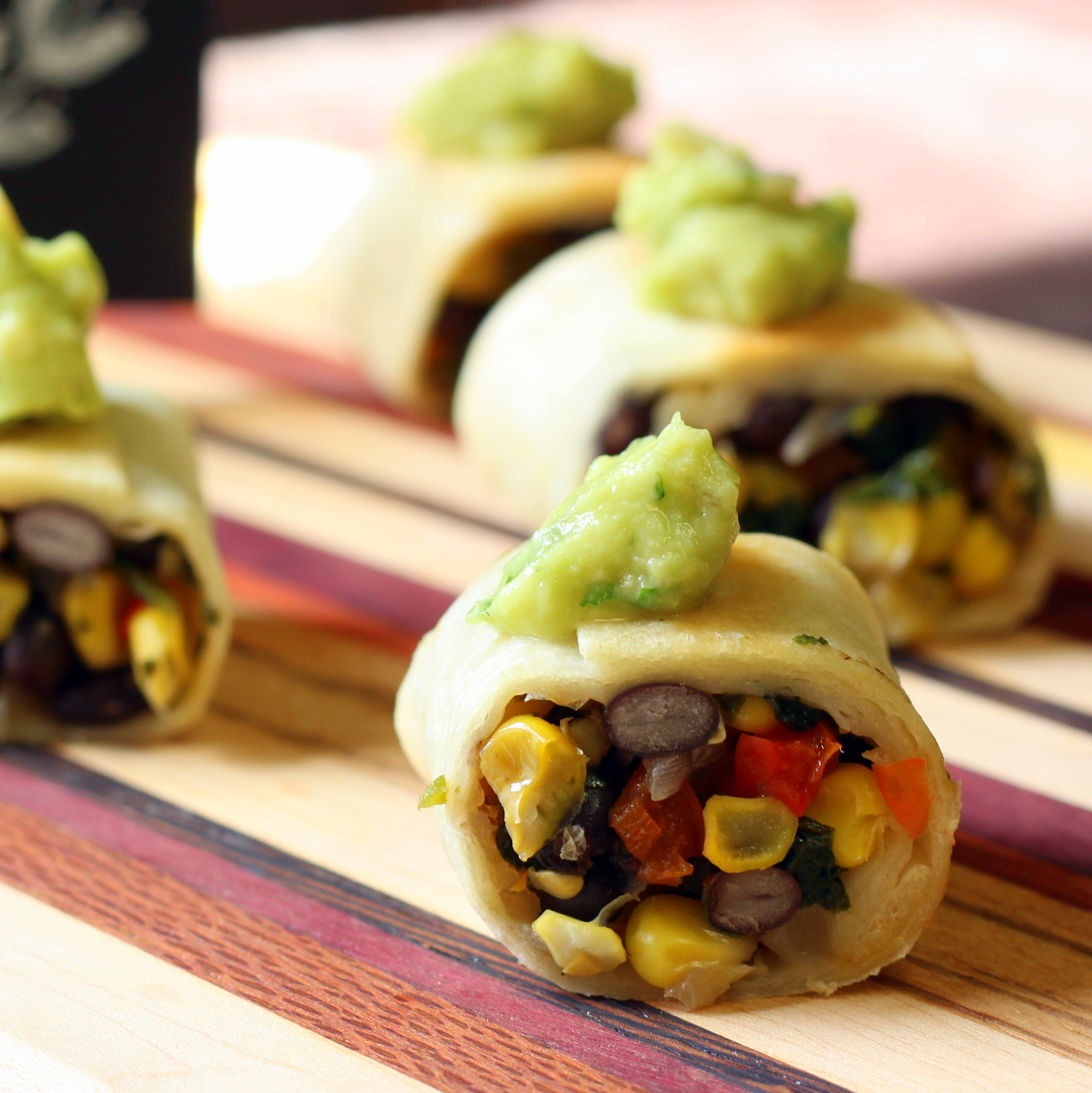 vegan mexican spring rolls appetizers