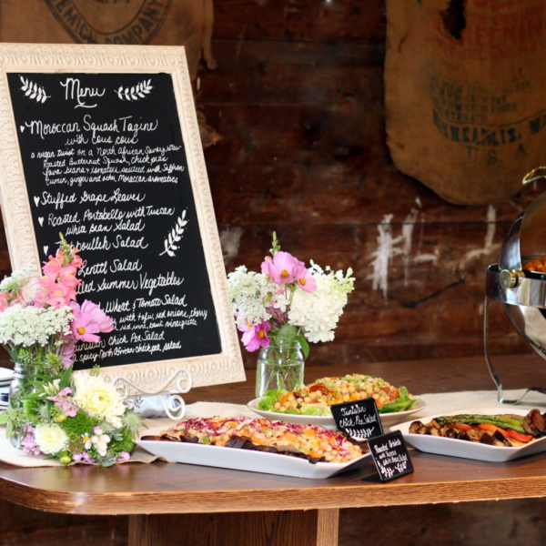 vegan wedding menu and dinner buffet in NJ