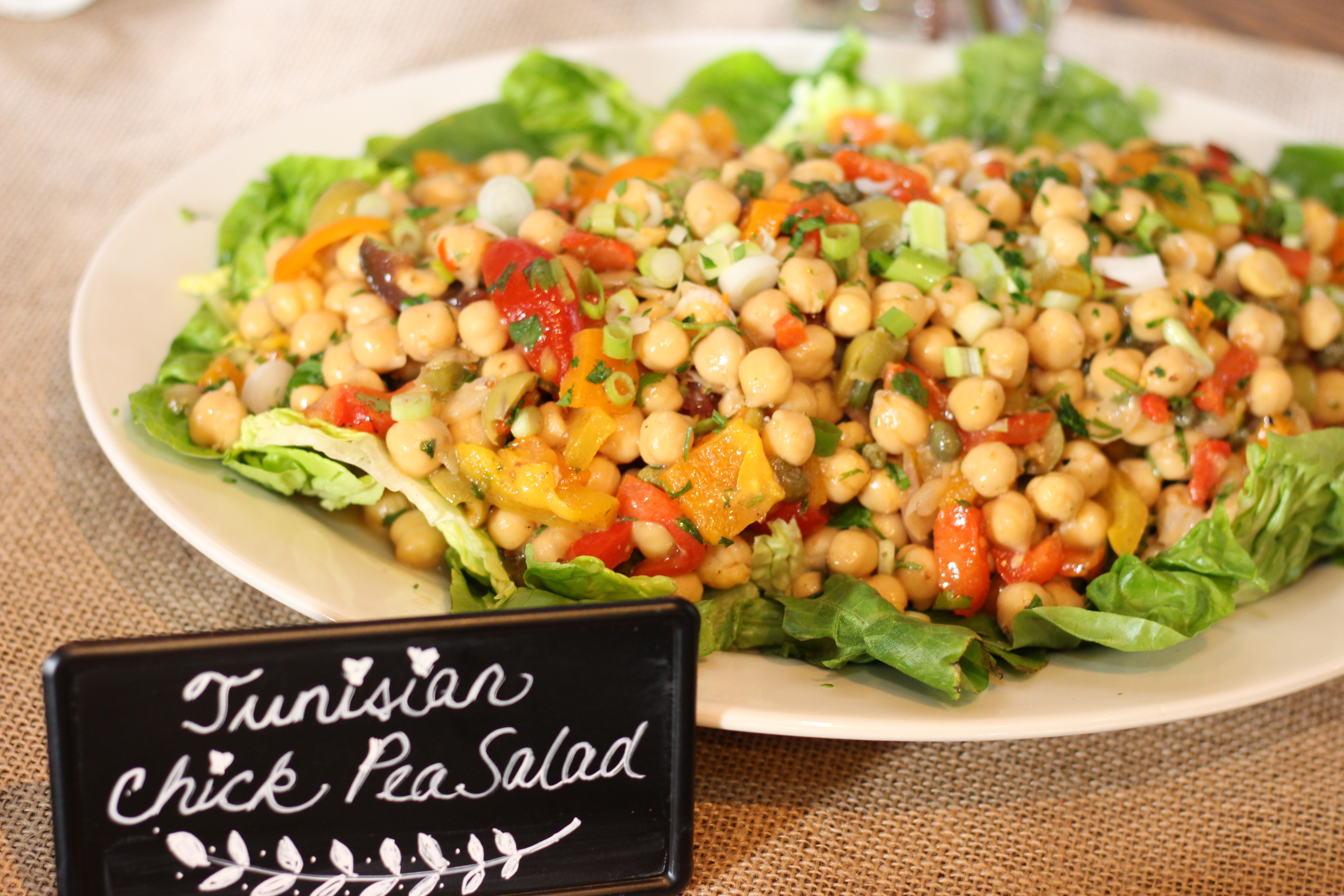 vegan wedding catering chick pea salad