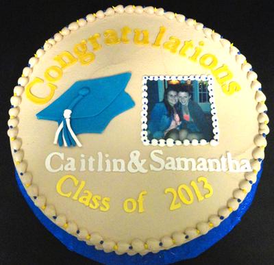 custom graduation cake with photo image