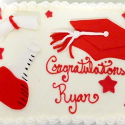 science major custom graduation cake