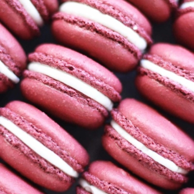 Cranberry Macarons by French Bakery Cafe Pierrot in NJ