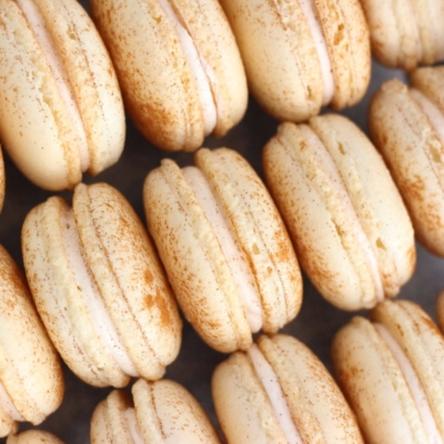 Eggnog Macarons by French Bakery Cafe Pierrot in NJ