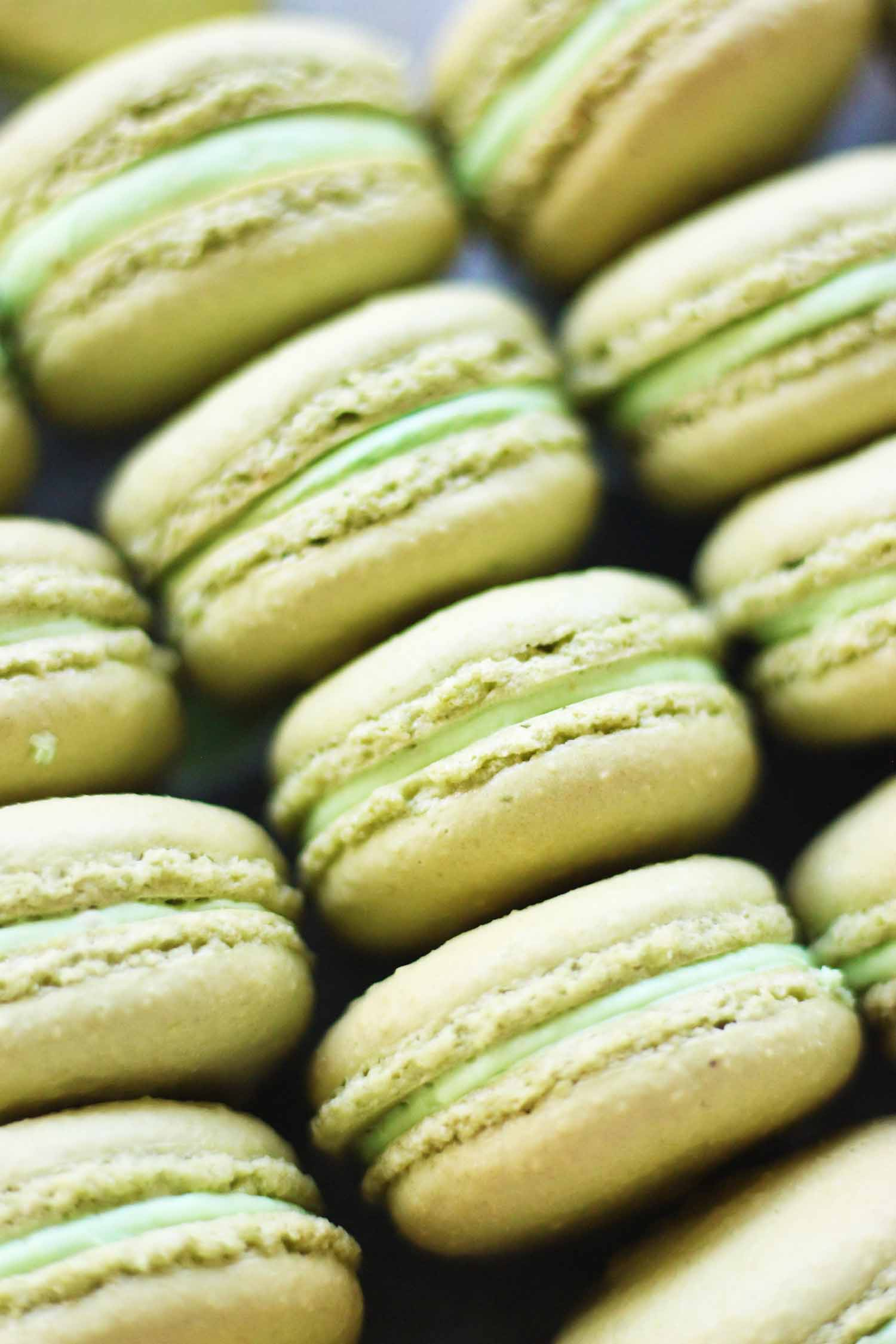 Pistachio Macarons by French Bakery Cafe Pierrot in NJ