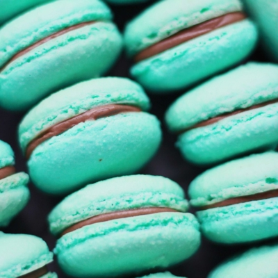 chocolate macaron from Pierrot Catering in New Jersey