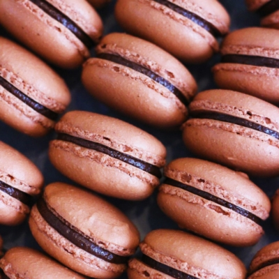 Milk Chocolate Hazelnut Macarons from Cafe Pierrot
