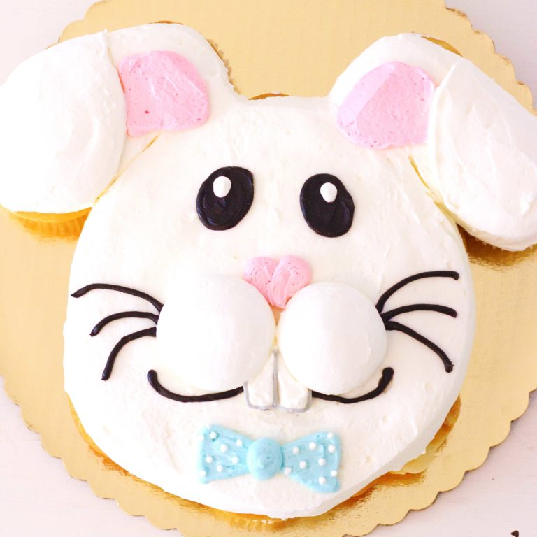 pull apart bunny cupcake cake by french bakery in northern new jersey