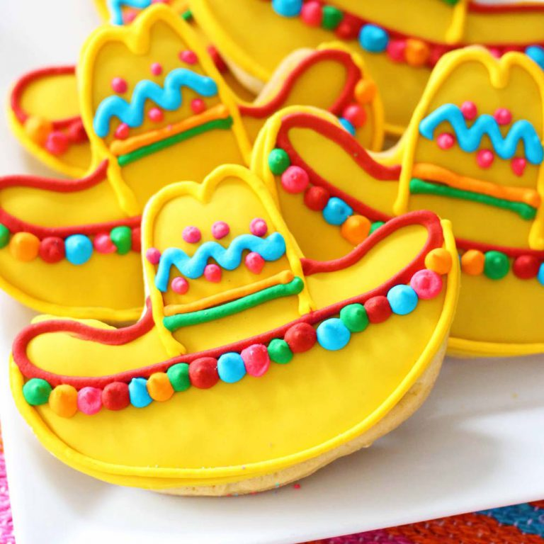 sombrero cookies for cinco de mayo, taco tuesday by Cafe Pierrot in Northern New Jersey