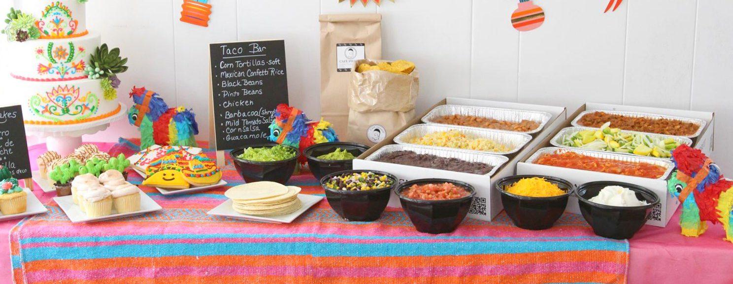 Cinco de Mayo Catering menu with taco bar options