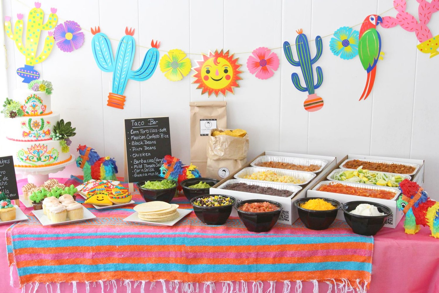 Cinco de Mayo Catering menu with taco bar options