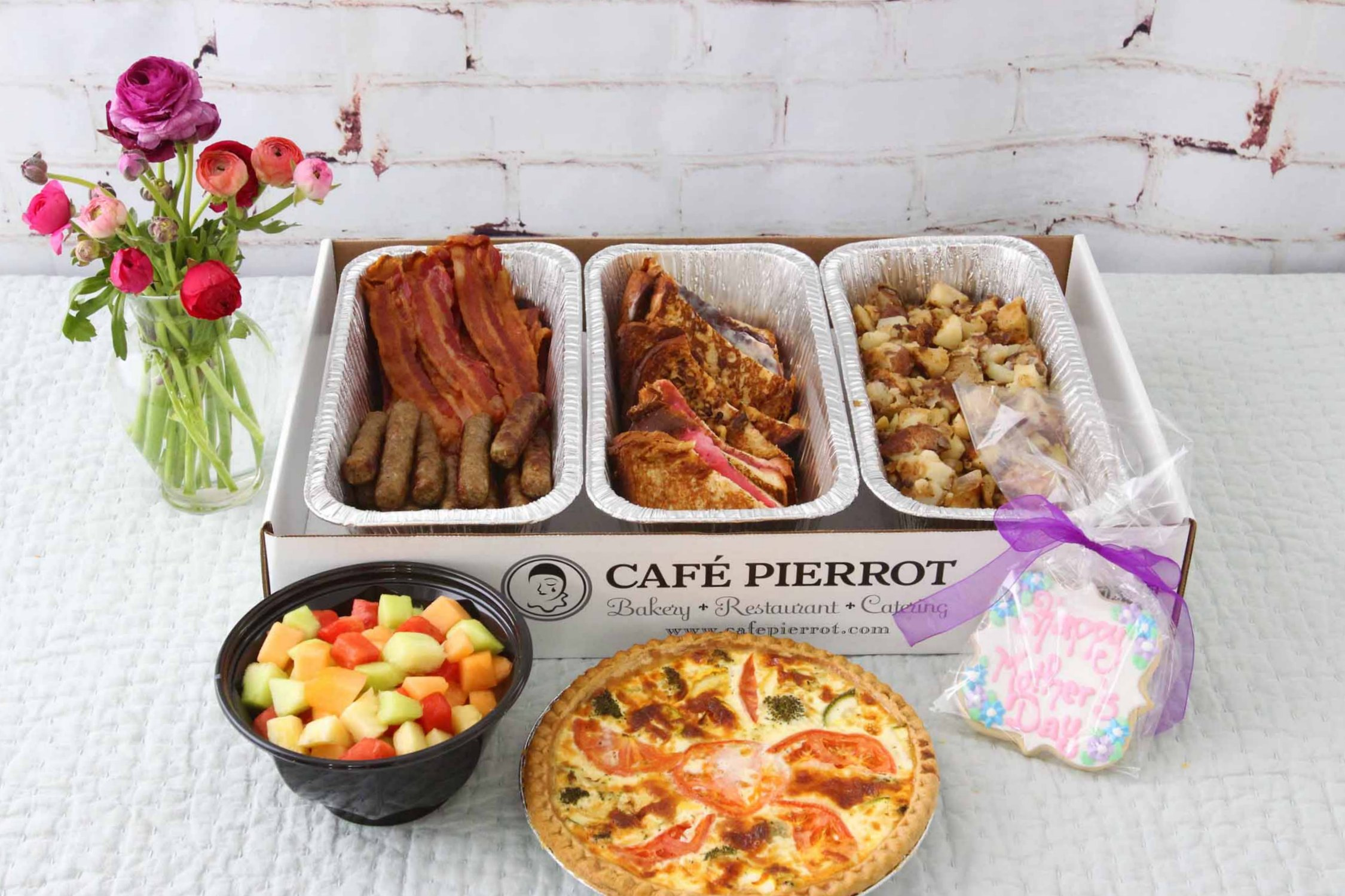 mother's day breakfast in bed catering from cafe pierrot in sussex county morris county nj