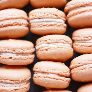 salted caramel macarons from french bakery in norther nj